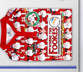 Santa's Red Sacks 2013/14 Home Rugby Shirt