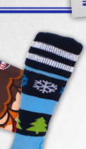 Wackysox New Festive Frolics Christmas Rugby Socks