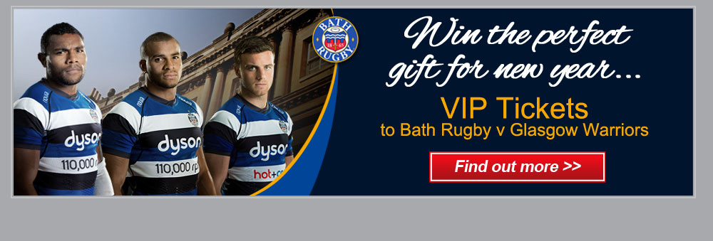Win the perfect gift for the new year... VIP tickets to Bath rugby Vs Glasgow - Find out more