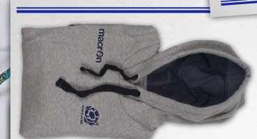 Scotland 2013/15 Heavy Cotton Hooded Rugby Sweat