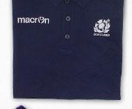 Scotland 2013/15 Players Media Cotton Striped Polo Shirt