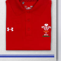 Wales 2013/15 Players Technical Rugby Polo Shirt