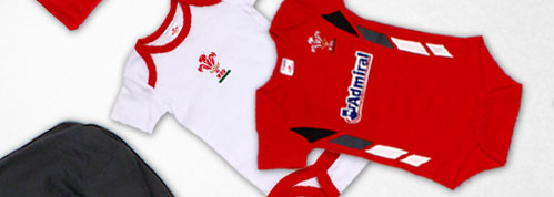 Wales 2013/15 Infants Rugby Bodysuits - 2 Pack