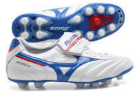 Mizuno Morelia Moulded FG Football Boots Pearl White/Blue/Red