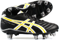 Asics Lethal Drive SG Rugby Boots Black /White/Yellow
