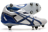 Asics Lethal Tigreor 6 ST SG Rugby Boots White/Blue