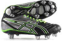 Asics Lethal Warno ST2 SG Rugby Boot Black/Grass/Silver