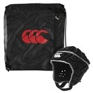 Club Plus Rugby Headguard Black/Grey
