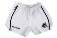 Scotland 2013/15 Home Players Rugby Shorts White