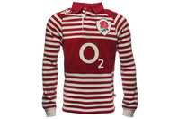 England 2013/14 Kids Alternate Classic L/S Rugby Shirt Biking Red