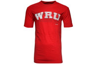 Wales 2013/15 Script Rugby T-Shirt Red