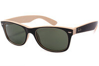 Ray-Ban 2132 875 Wayfarer Sunglasses Black/Beige