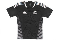 New Zealand All Blacks 7s Home 2013/14 S/S Rugby Shirt Black