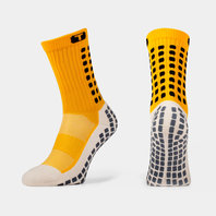 Mid Calf Cushion Crew Socks Yellow / Black