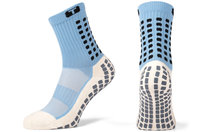 Mid Calf Cushion Crew Socks Sky Blue / Black