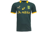 South Africa Springboks 2014/15 Home Pro S/S Rugby Shirt Bottle Green
