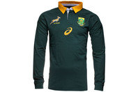 South Africa Springboks 2014/15 Off Field L/S Polo Shirt Bottle Green