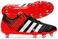 adidas Regulate Kakari Wide Fit SG Rugby Boots Black/White/Solar Red