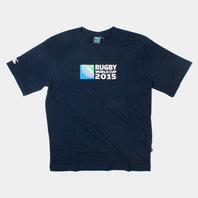 RWC 2015 Logo Rugby Kids T-Shirt Navy