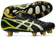 Asics Lethal Warno ST 2 SG Rugby Boots Black/Eucalyptus/Wattle