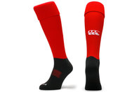 CCC Plain Rugby Playing Socks Flag Red