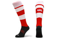 Hooped Rugby Playing Socks Flag Red/White