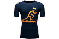 Australia Wallabies 2014 Off Field Logo Rugby T-Shirt Navy