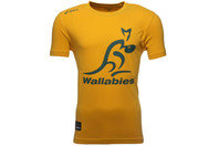 Australia Wallabies 2014 Off Field Logo Rugby T-Shirt Gold