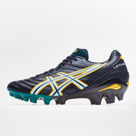 Asics Lethal Glory Gel FG Rugby Boots Black/White/Springbok Green