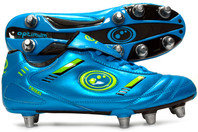 Optimum Tribal SG Rugby Boots Blue/Neon Green