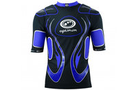 Inferno Long Kids Rugby Body Armour Black/Blue