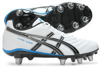 Asics Lethal Scrum SG Rugby Boots White/Silver/Blue