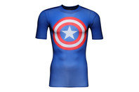 Captain America Logo Compression S/S T-Shirt