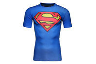 Superman Logo Compression S/S Kids T-Shirt Royal/Red