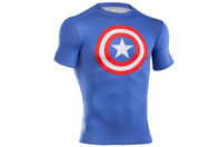 Under Armour Captain America Logo Compression S/S Kids T-Shirt