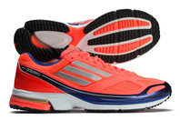 adiZero Boston Boost 4 Running Shoes Infrared/Metallic Silver/Hero Ink