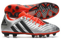 adidas Predator Incurza TRX FG Rugby Boots Silver Metallic/Core Black/Solar Red