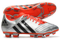 adidas Incurza TRX FG Rugby Boots Silver Metallic/Core Black/Solar Red