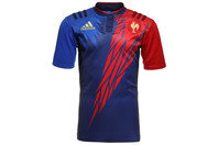 France 7s 2014/15 Home S/S Replica Rugby Shirt Dark Blue/Power Red