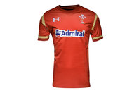 Under Armour Wales WRU 2016/17 Home Kids S/S Rugby Shirt