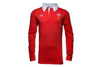 Wales WRU 2015/16 L/S Off Field Rugby Polo Shirt
