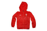 Under Armour Wales WRU 2016/17 Kids Full Zip Hooded Rugby Sweat