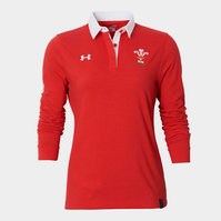 Wales WRU 2015/16 Ladies L/S Rugby Polo Shirt