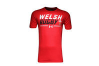 Under Armour Wales WRU 2016/17 Graphic Off Field Rugby T-Shirt