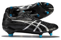 Asics Gel Lethal Speed SG Rugby Boots Black/Silver/Blue