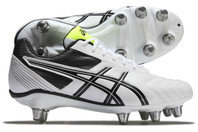 Asics Lethal Tackle SG Rugby Boots White/Black/Flash Yellow