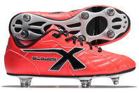 X Blades Legend Flash 6 Stud SG Kids Rugby Boots Crimson