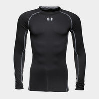 Heat Gear Long Sleeve Compression Shirt Black