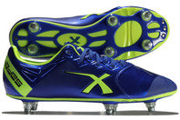 X Blades Sniper Speed 6 Stud SG Rugby Boots Electric Blue/Yellow