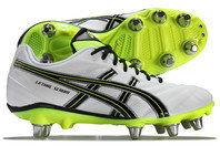 Asics Lethal Scrum SG Rugby Boots White/Flash Yellow/Black
